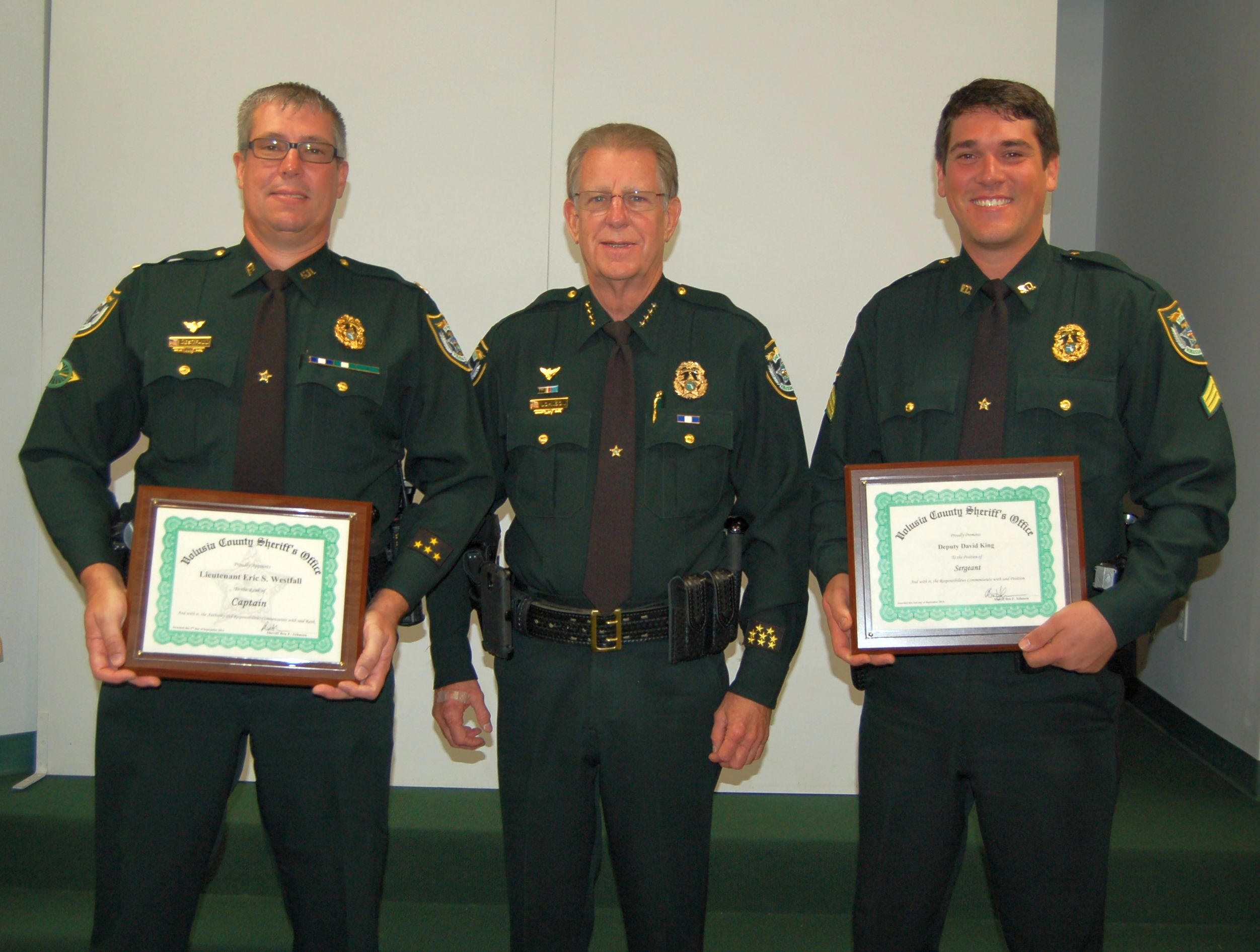 Sheriff Johnson Promotes New Captain